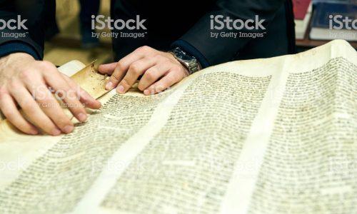 Boy reading Torah